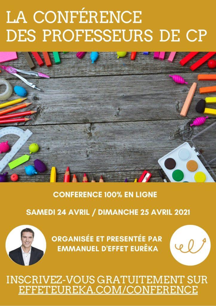 La conférence des professeurs de CP - 24/25 avril