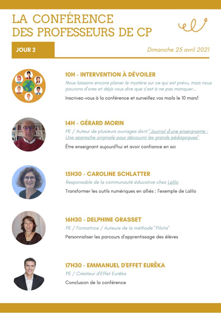 Programme de la conférence des professeurs de CP du 24 et 25 avril - Évènement 100% en ligne