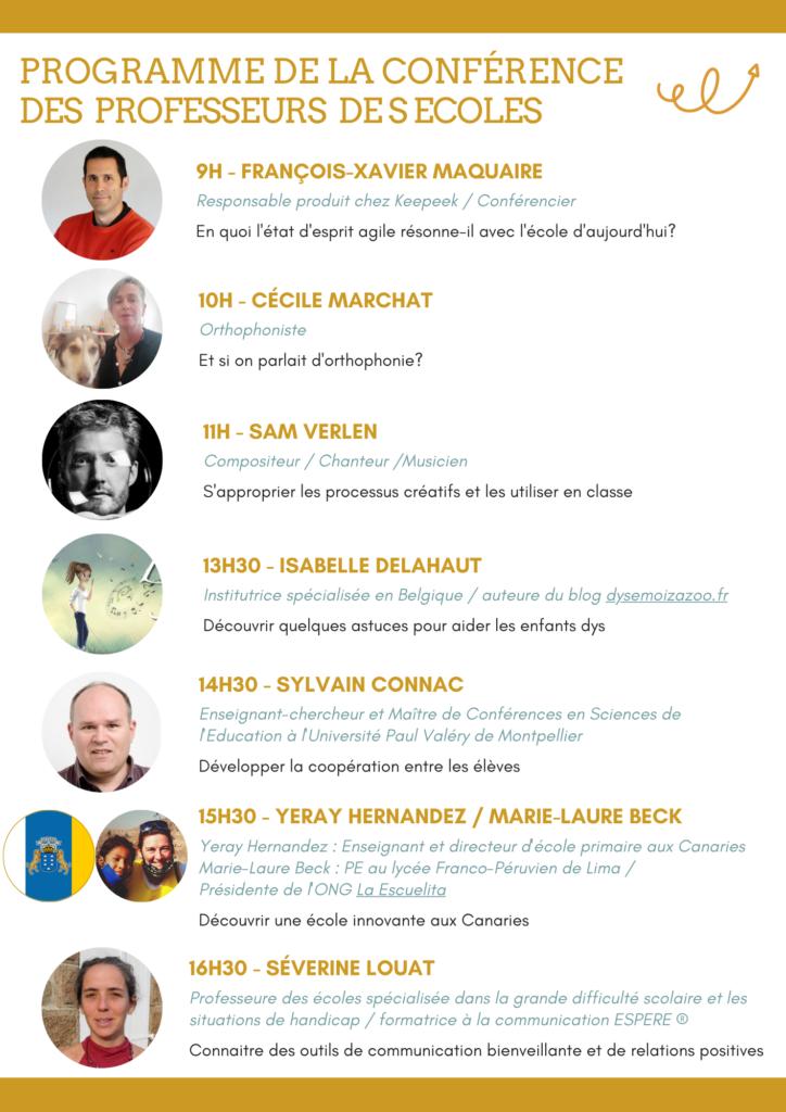 Programme conférence professeur des écoles 7 novembre 2021 Effet Eurêka